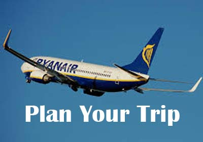 Image of a Ryanair aeroplane in the Sky
