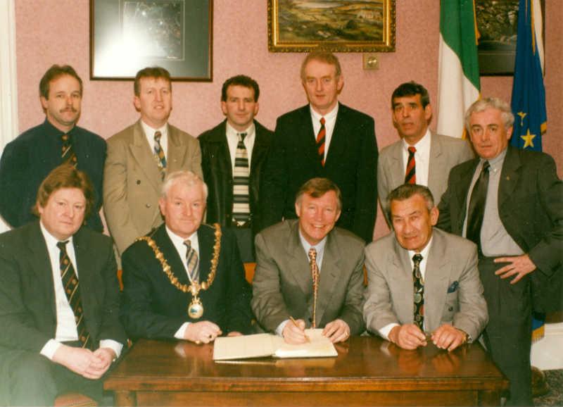 Branch Members Sir Alex Ferguson & Sean Fallon 1998