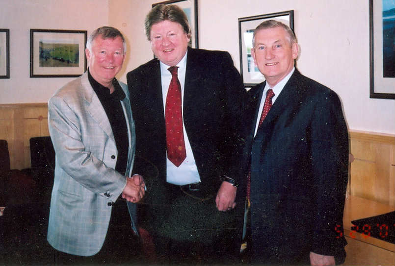Sir Alex Ferguson Eddie Gray & Vincent Nally