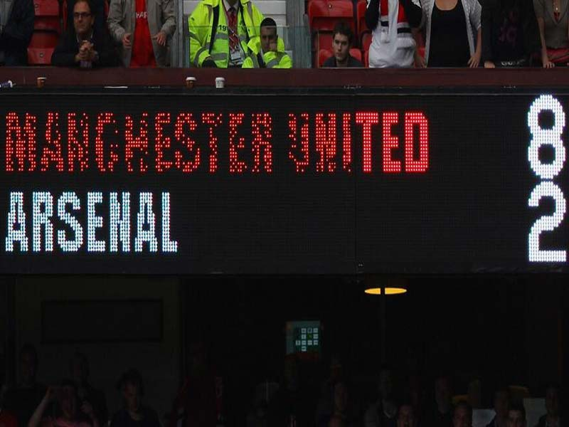 Scoreboard of Man Utd's 8-2 win over Arsenal