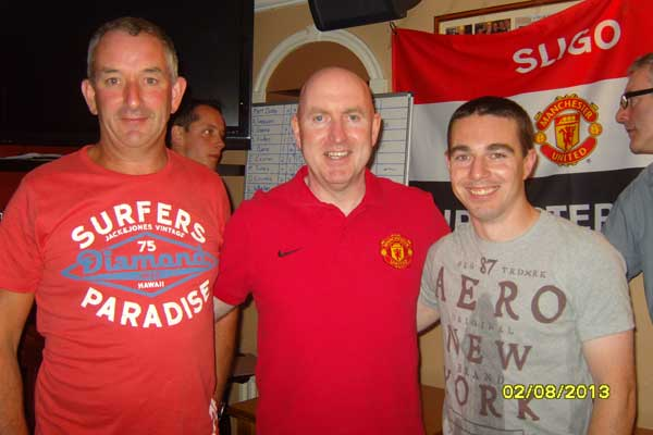 Pat Harte and Mark Devins with Alan Keegan