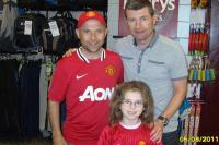 Denis Irwin with Francie Tighe