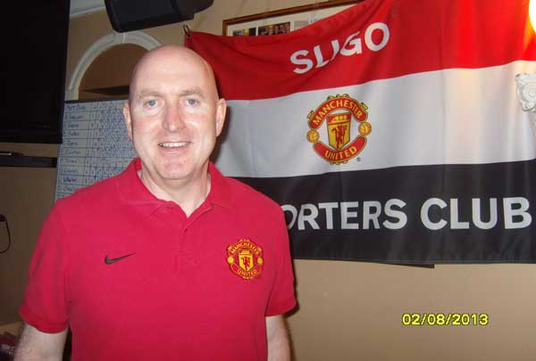 Stadium Announcer with MUSC Sligo Flag